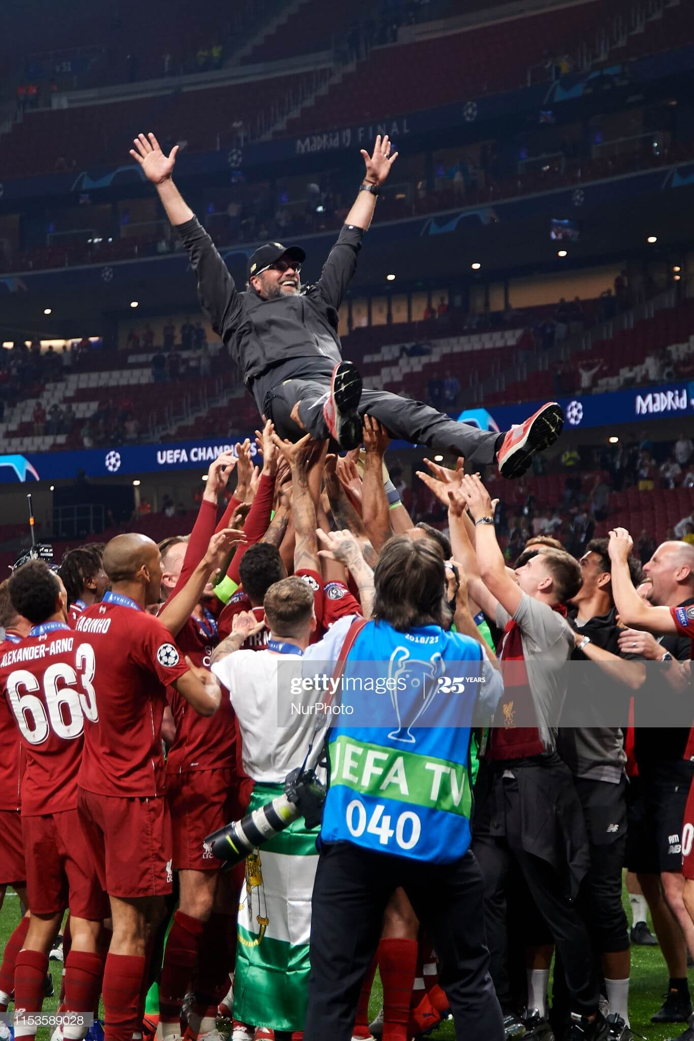 Liverpool Team Signed Champions League Final Shirt & Winners Medal Display Madrid 2019 - Golden ...